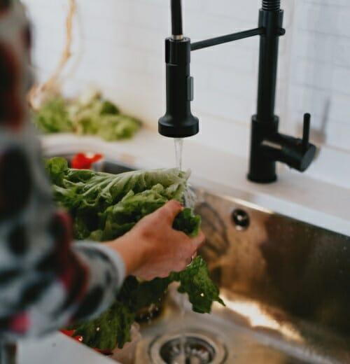 Lavando la comida